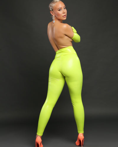 BETTY LEGGING // NEON YELLOW LATEX