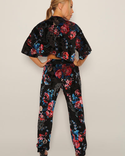 ELYSIAN GARDEN CROPPED LEISURE SUIT