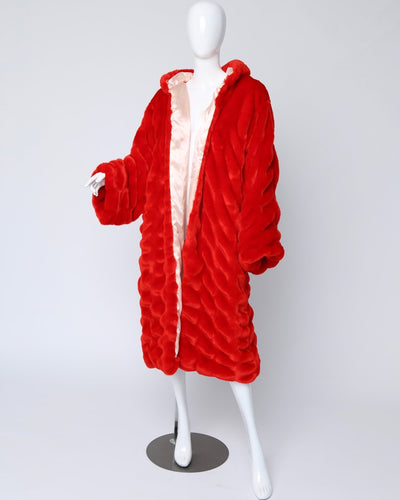 MINKY 48 COAT // RED