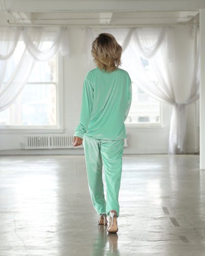 ANGELFACE LEISURE SUIT // TEAL FEATHER