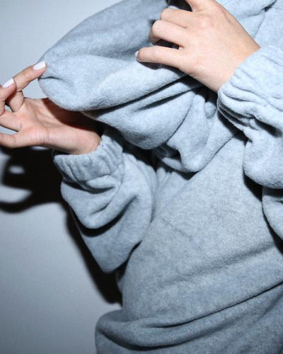 TEDDY 24 SWEATER // HEATHER GREY