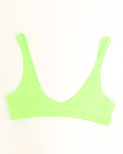 "TWO SCOOPS ""SPORT"" BIKINI BRA // NEON GREEN"
