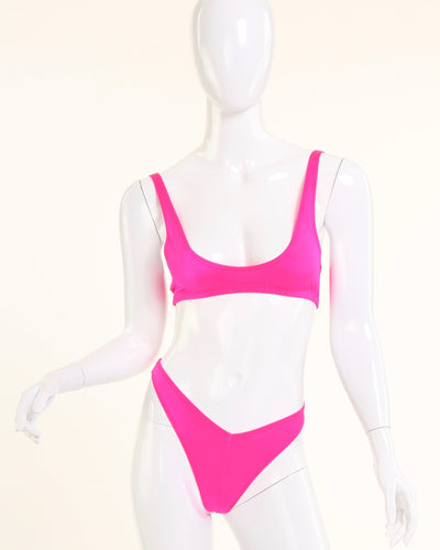 "TWO SCOOPS ""SPORT"" BIKINI BRA // HOT PINK"