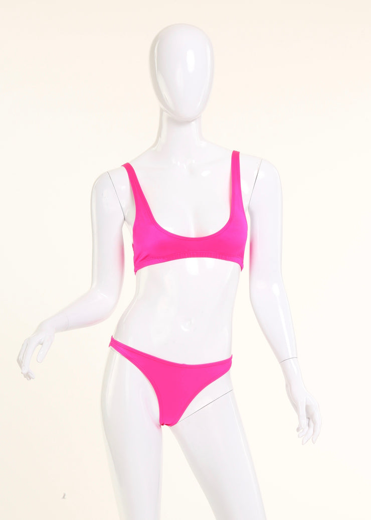 SAO PAULO SCRUNCH BIKINI BOTTOM // HOT PINK