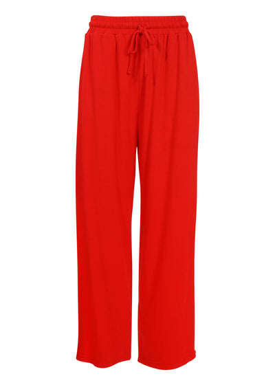 THE DRAWSTRING PANT // CHILI PEPPER RED