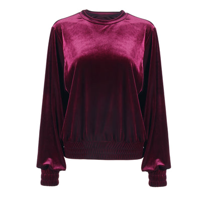 LEISURE LOUNGING CREWNECK // BLACK CHERRY