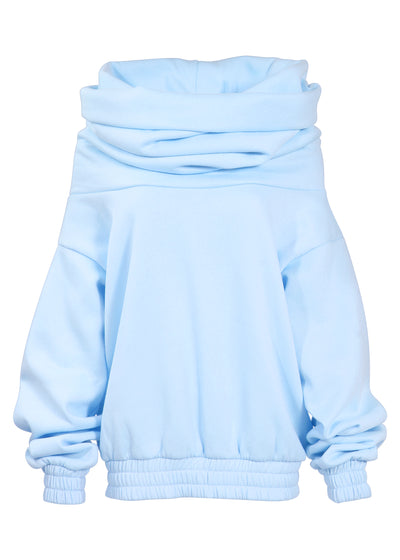 TAKEOFF TEDDY SWEATER // BABY BLUE