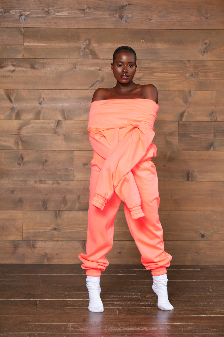 TAKEOFF TEDDY SWEATPANT // NEON PINK