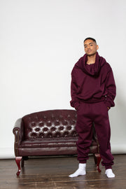 TAKEOFF TEDDY SWEATPANT // BURGUNDY