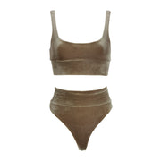 THE LEISURE BIKINI // FROSTED TAUPE