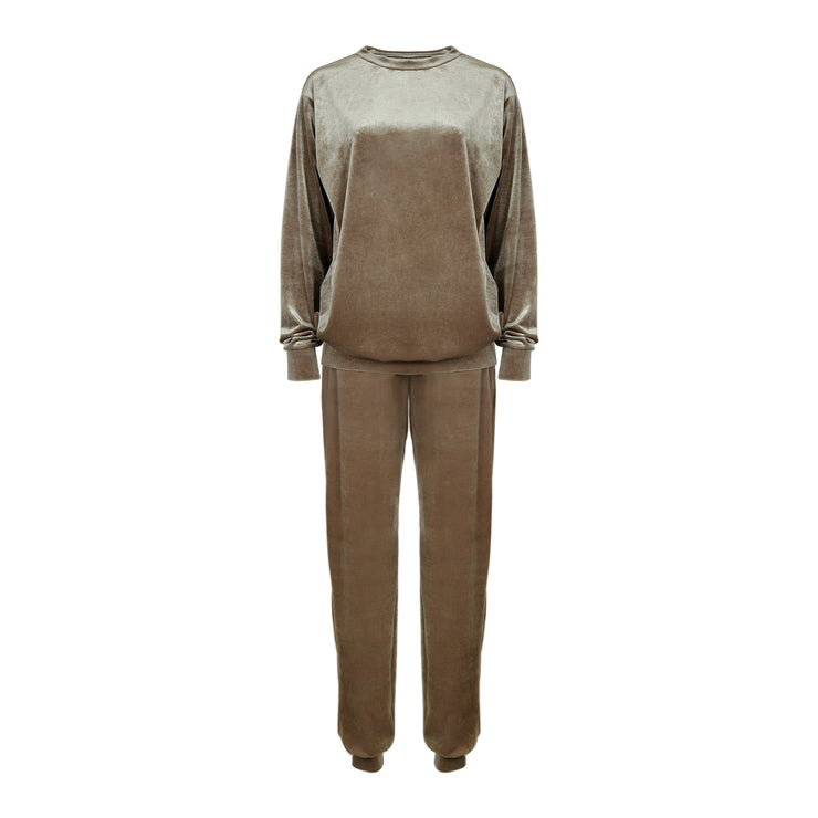 THE LEISURE LOUNGING SUIT // FROSTED TAUPE