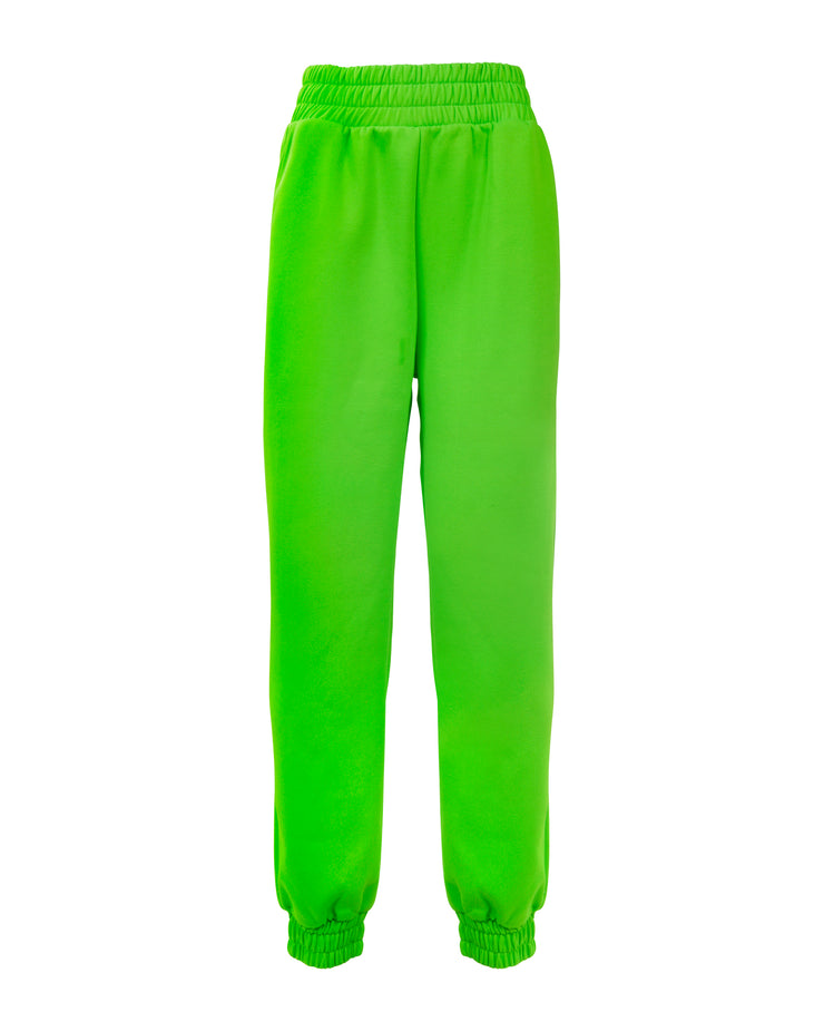 TAKEOFF TEDDY SWEATPANT // NEON GREEN