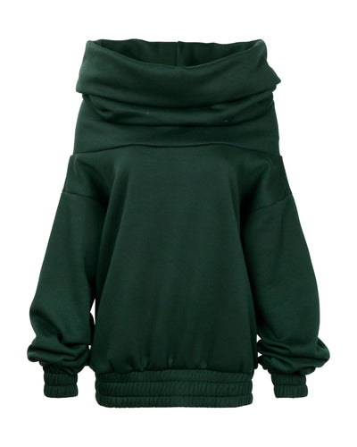 TAKEOFF TEDDY SWEATER // FOREST GREEN