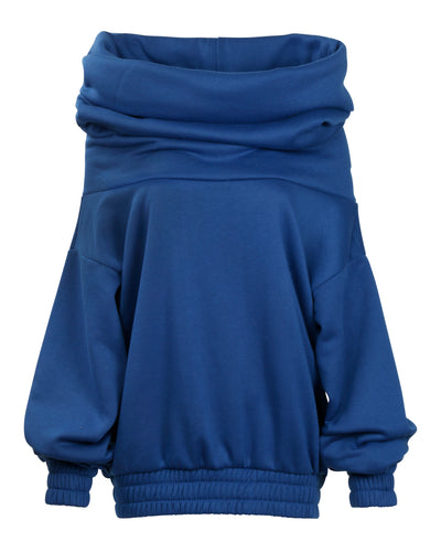 TAKEOFF TEDDY SWEATER // ROYAL BLUE