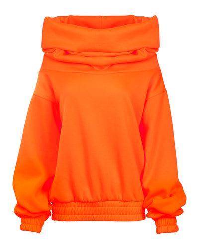 TAKEOFF TEDDY SWEATER // NEON ORANGE