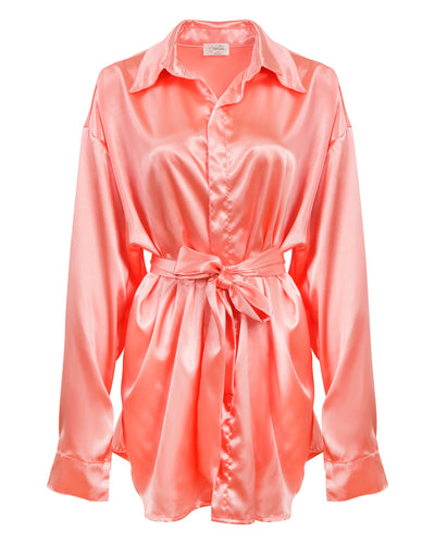 THE UNBUTTONED SHIRT // PINK OYSTER