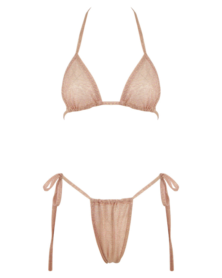 THE SHIMMER BIKINI // ROSE QUARTZ