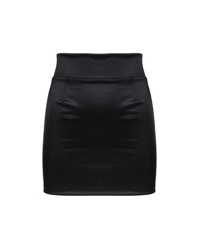 THE SATIN MINISKIRT // TONKA BEAN