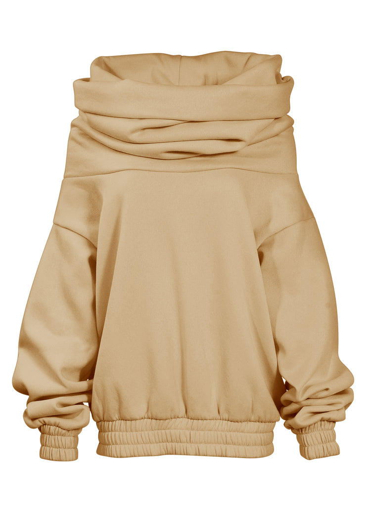 TAKEOFF TEDDY SWEATER // CAMEL