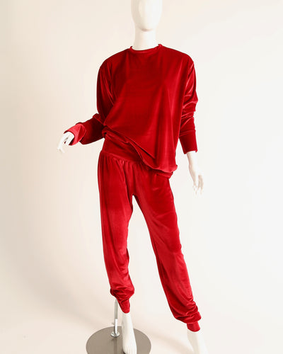 LEISURE LOUNGING SUIT // TRUE RED