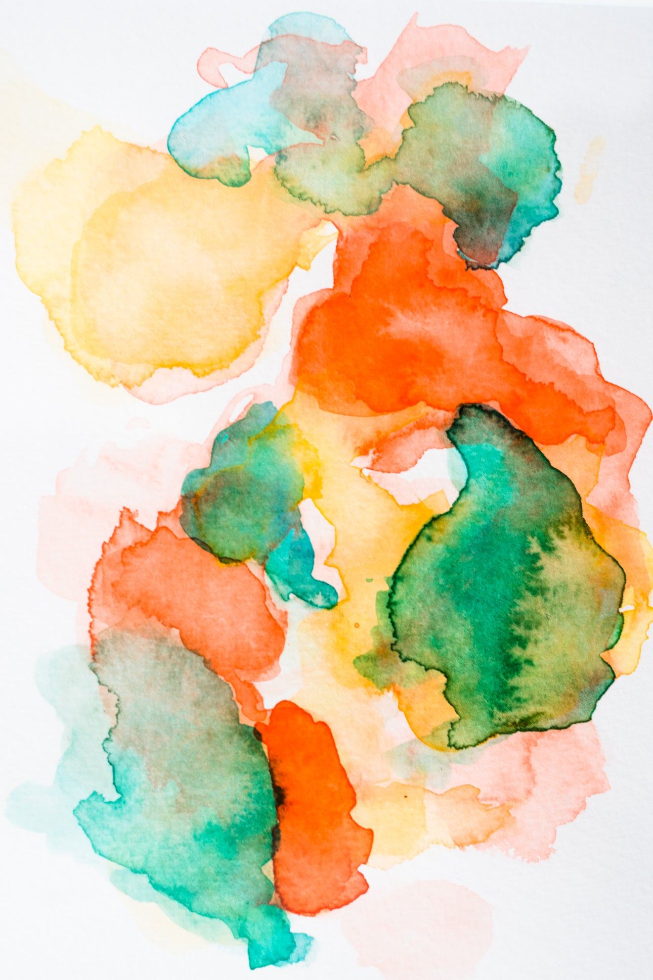 ORIGINAL: Love on the Brain - Watercolor Series - No. 12 - DANESSA