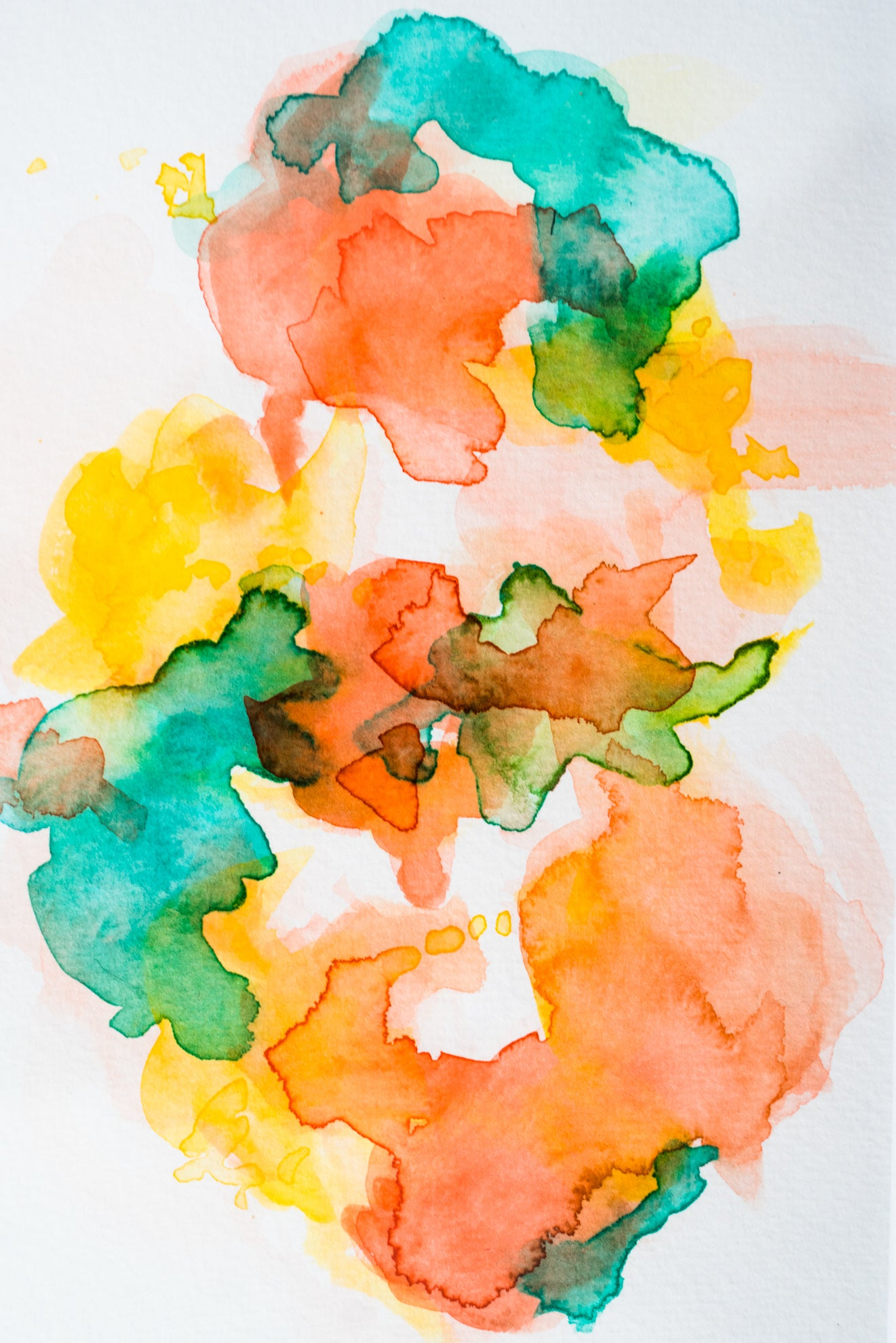 ORIGINAL: Love on the Brain - Watercolor Series - No. 07 - DANESSA