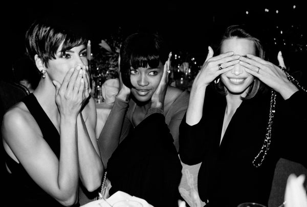 Linda Evangelista, Naomi Campbell and Christy Turlington by Roxanne Lowit, 1989
