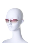 Pink Crystal Sunglasses