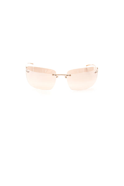 GucciFrameless Reflective Gold Sunglasses- irvrsbl