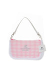 Courreges Pink Checkered Bag - irvrsbl