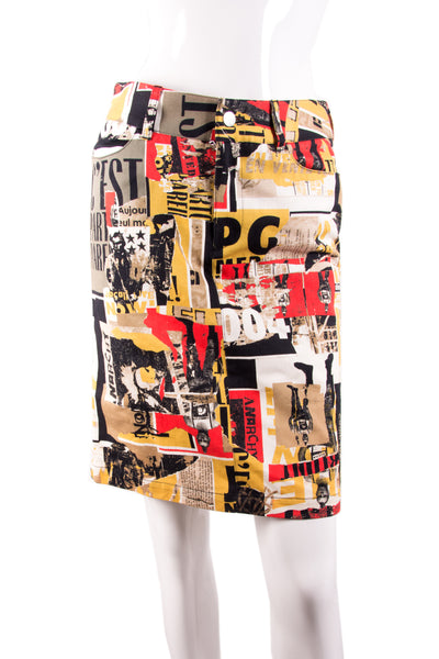 Newspaper Print skirt