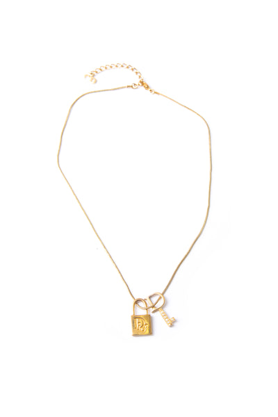 Christian Dior Lock and Key Necklace - irvrsbl