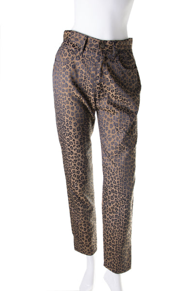 Leopard Print Jeans as worn by Bella Hadid