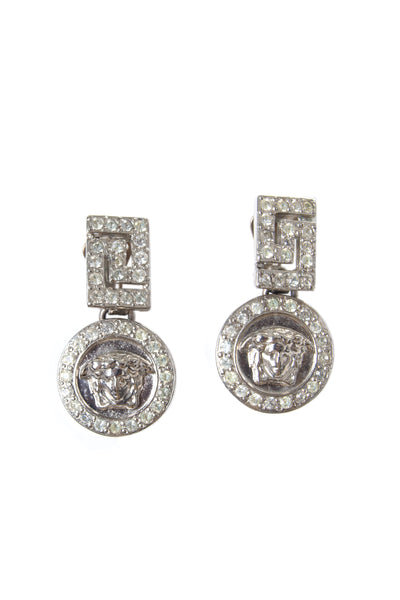 Medusa Greek Key Earrings