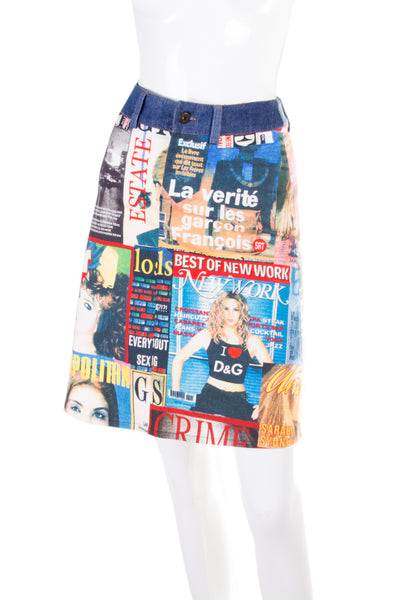 Dolce and Gabbana Magazine Print Skirt - irvrsbl