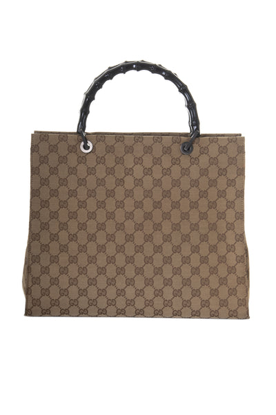 Monogram Bag with Bamboo Handle