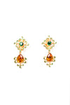 Drop Gem Clip On Earrings