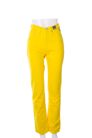 Yellow High Waisted Jeans