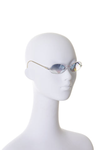 Reflective Crystal CC Sunglasses