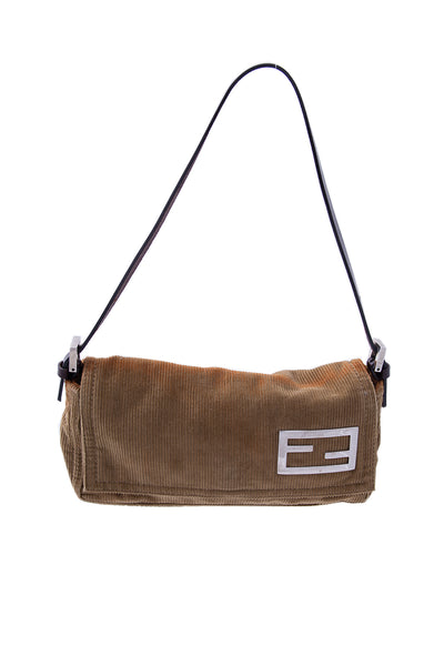 FendiCorduroy Shoulder Bag- irvrsbl