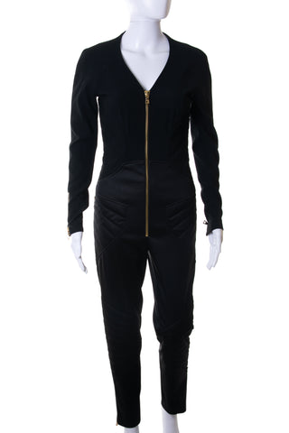 Moschino Moto Zip Up Jumpsuit - irvrsbl