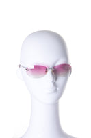 Ombre Pink Rimless Sunglasses