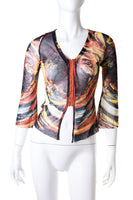 Jean Paul GaultierSheer Marbled Top- irvrsbl