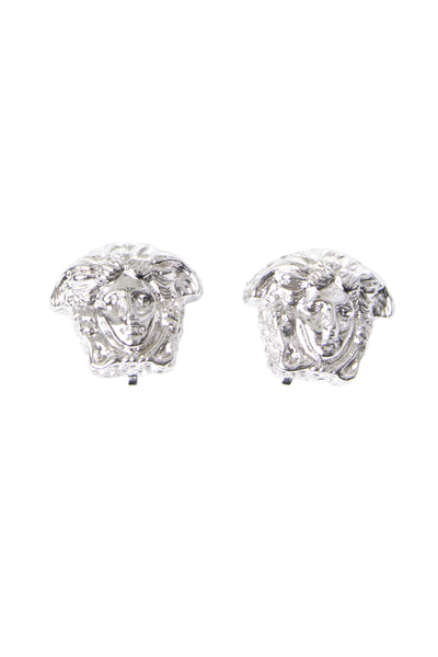 Medusa Crystal Clip on Earrings
