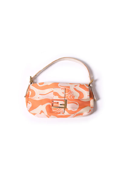 Patterned Baguette Handbag