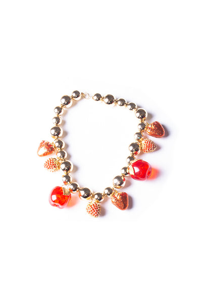 Strawberry and Apple Necklace