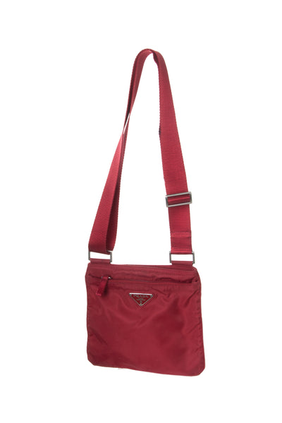 Prada Nylon Messenger Bag in Red - irvrsbl