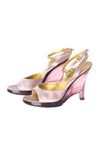 Satin Lucite Wedges