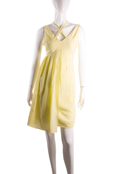 Silk Neon Yellow Dress