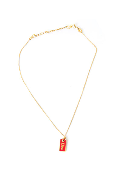 Christian DiorDog Tag Necklace- irvrsbl